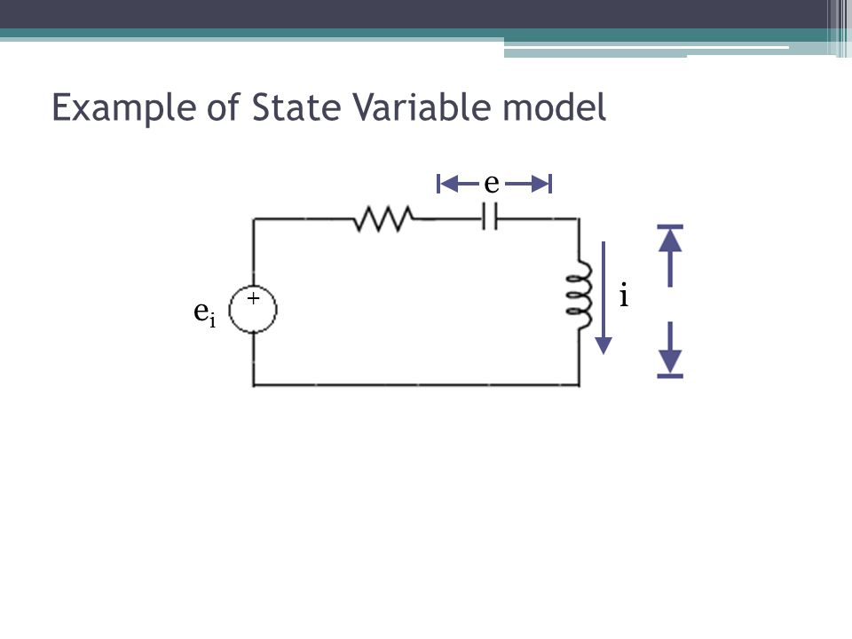 Example of State Variable model