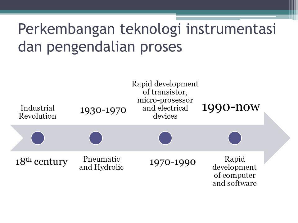 Perkembangan teknologi instrumentasi dan pengendalian proses