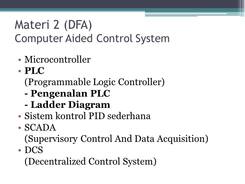 Materi 2 (DFA) Computer Aided Control System