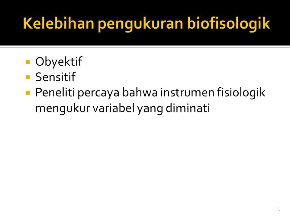 Kelebihan pengukuran biofisologik