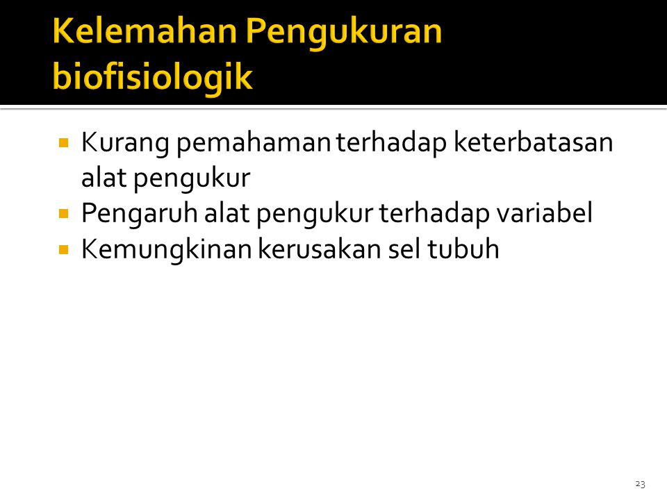 Kelemahan Pengukuran biofisiologik