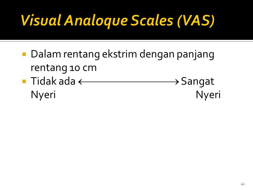 Visual Analoque Scales (VAS)