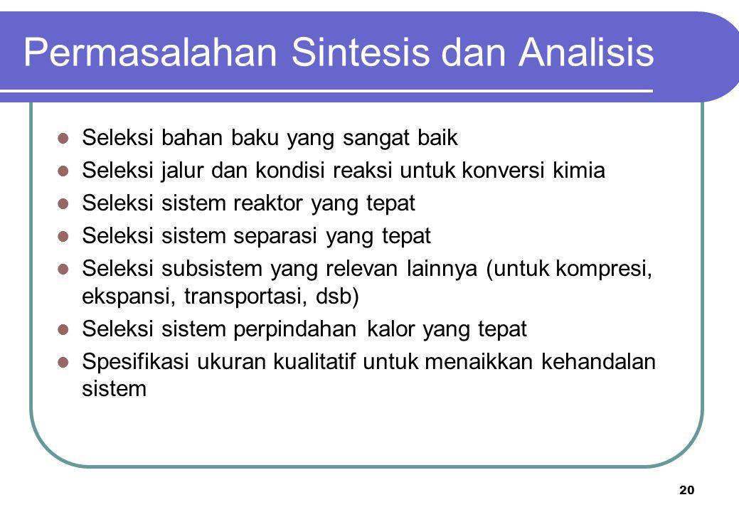 Permasalahan Sintesis dan Analisis