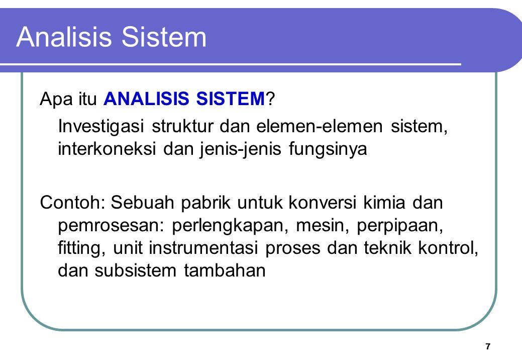 Analisis Sistem Apa itu ANALISIS SISTEM