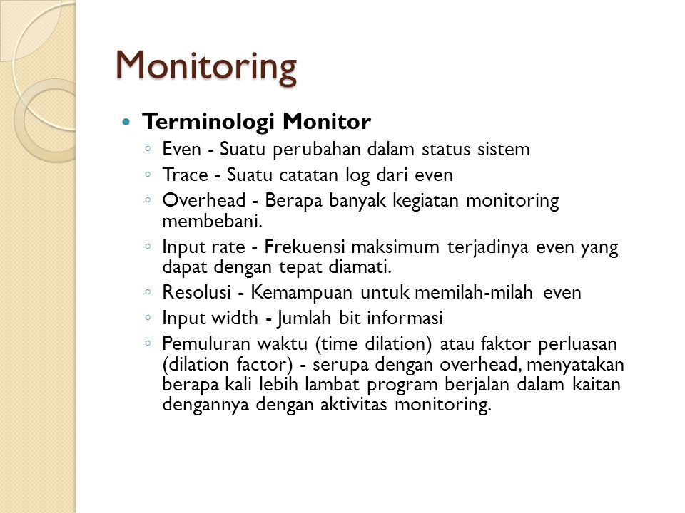 Monitoring Terminologi Monitor