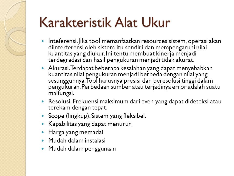 Karakteristik Alat Ukur
