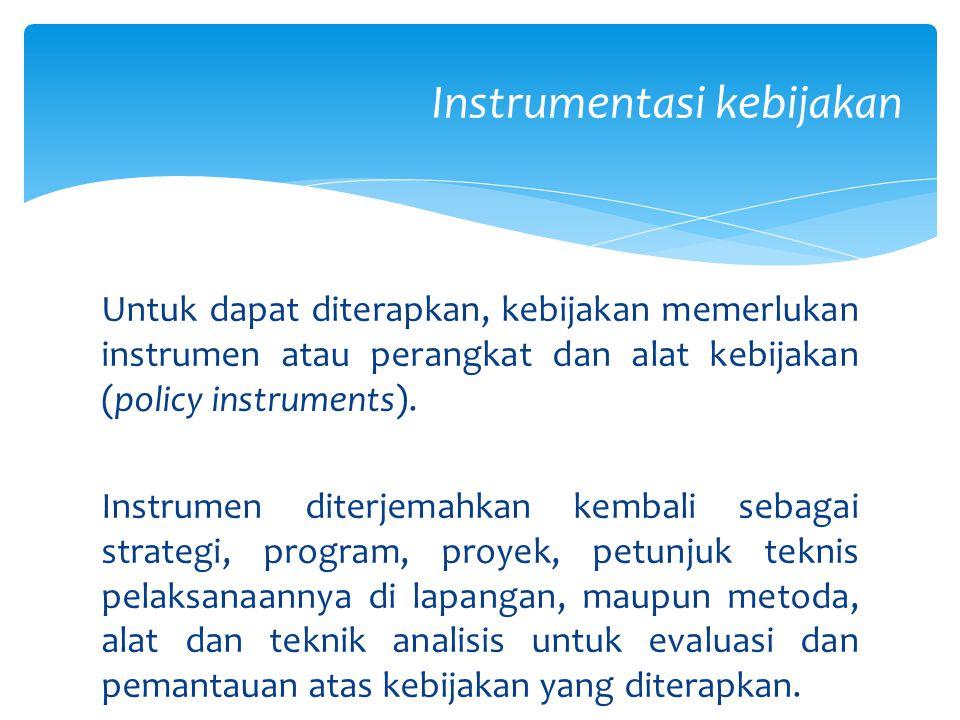 Instrumentasi kebijakan