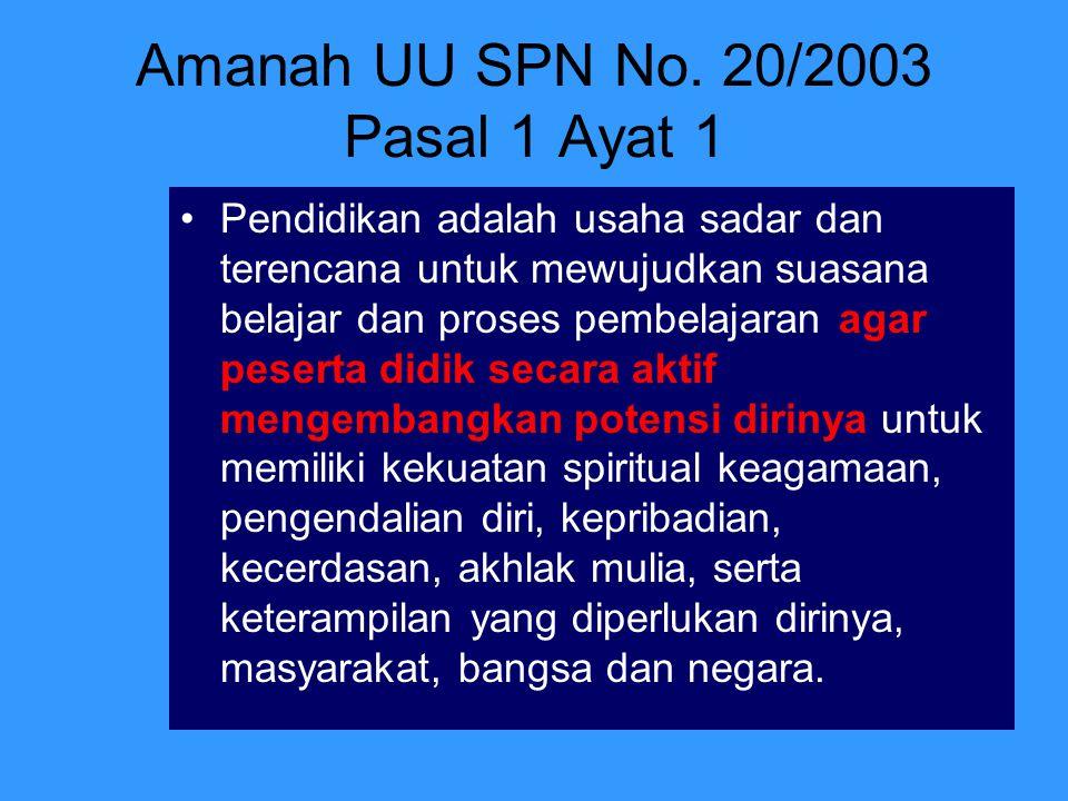 Amanah UU SPN No. 20/2003 Pasal 1 Ayat 1