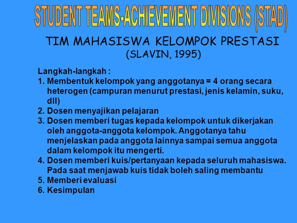 TIM MAHASISWA KELOMPOK PRESTASI (SLAVIN, 1995)