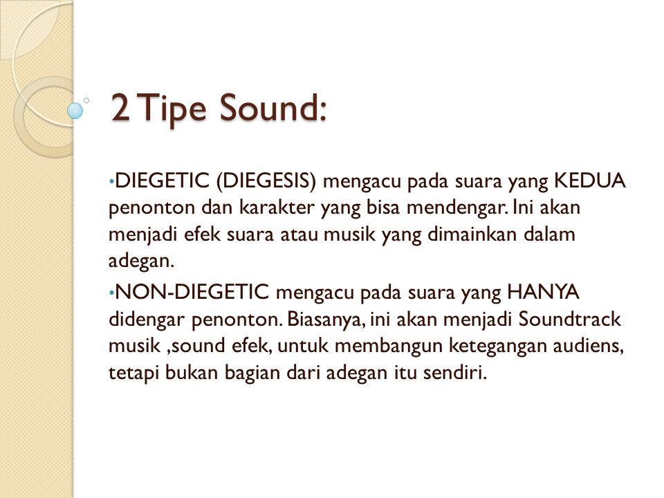 2 Tipe Sound: