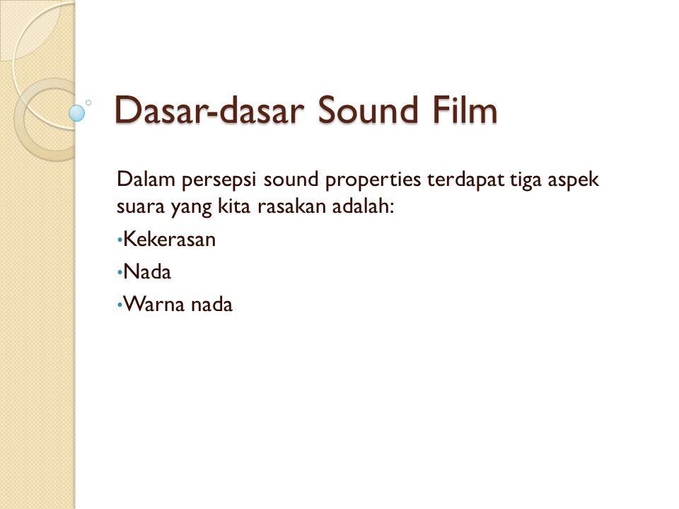 Dasar-dasar Sound Film