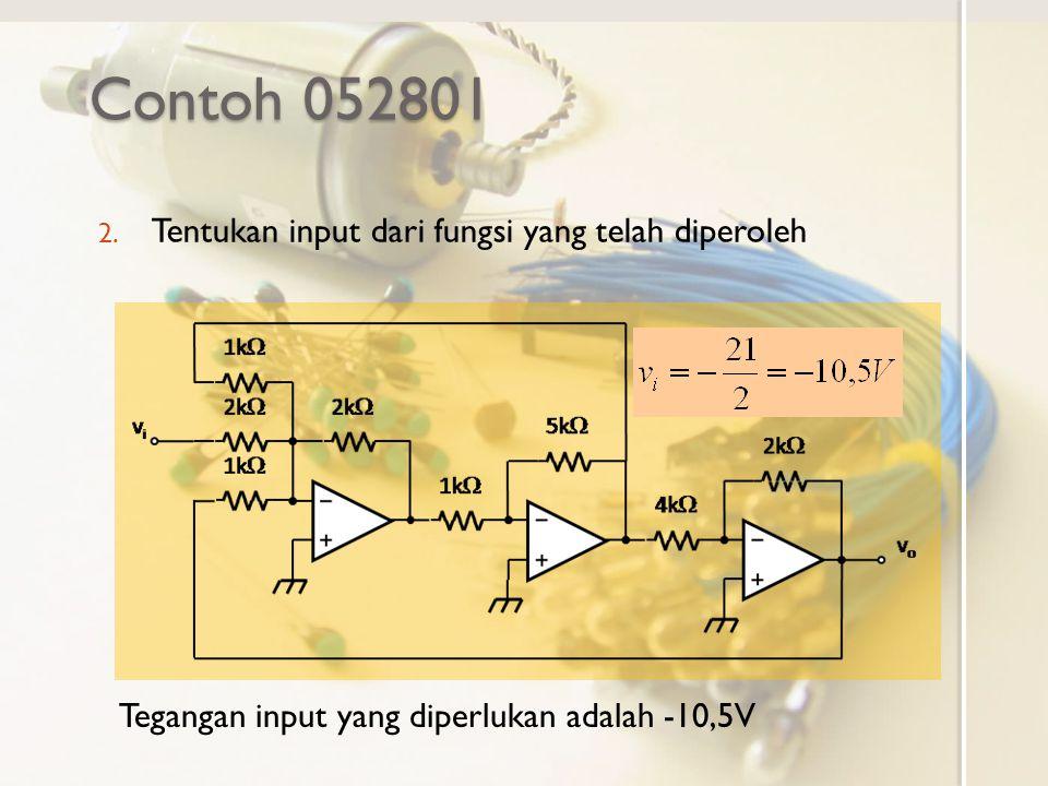Contoh 052801 Tentukan input dari fungsi yang telah diperoleh