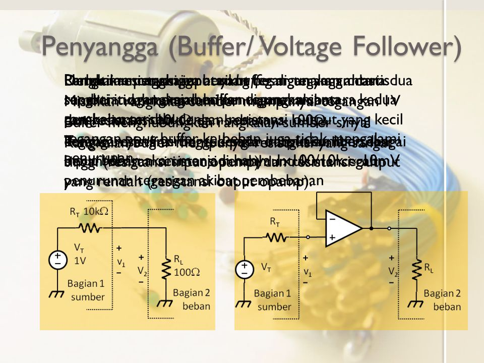 Penyangga (Buffer/ Voltage Follower)