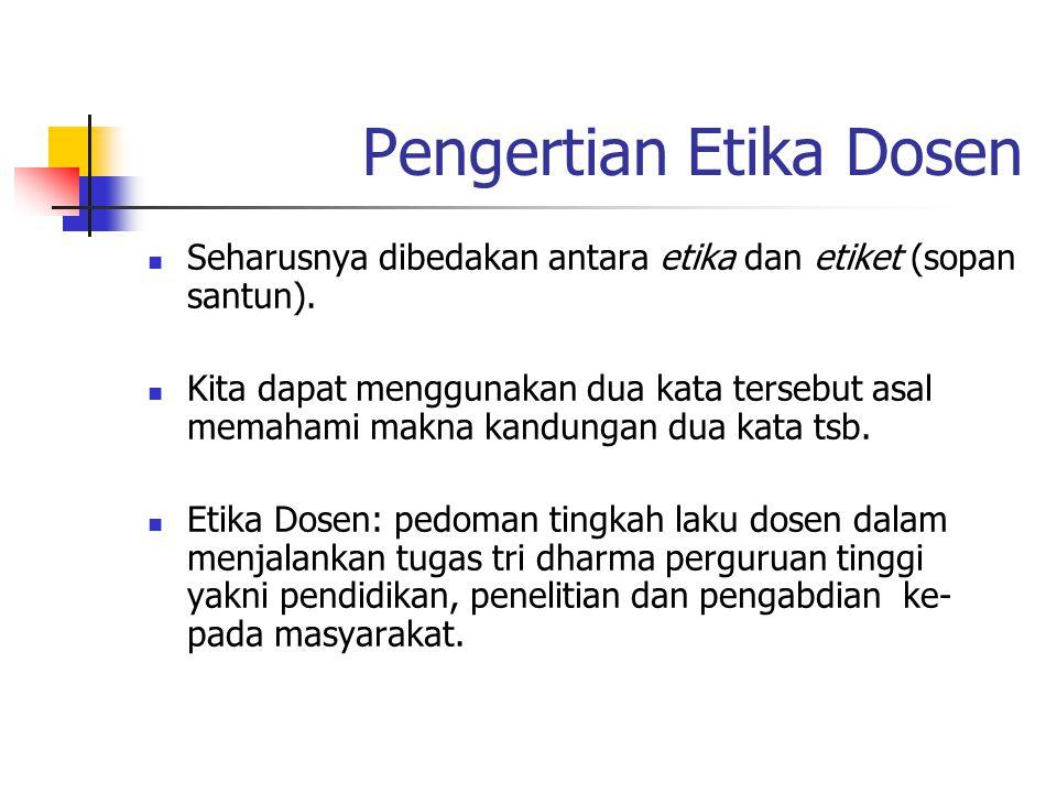 Pengertian Etika Dosen