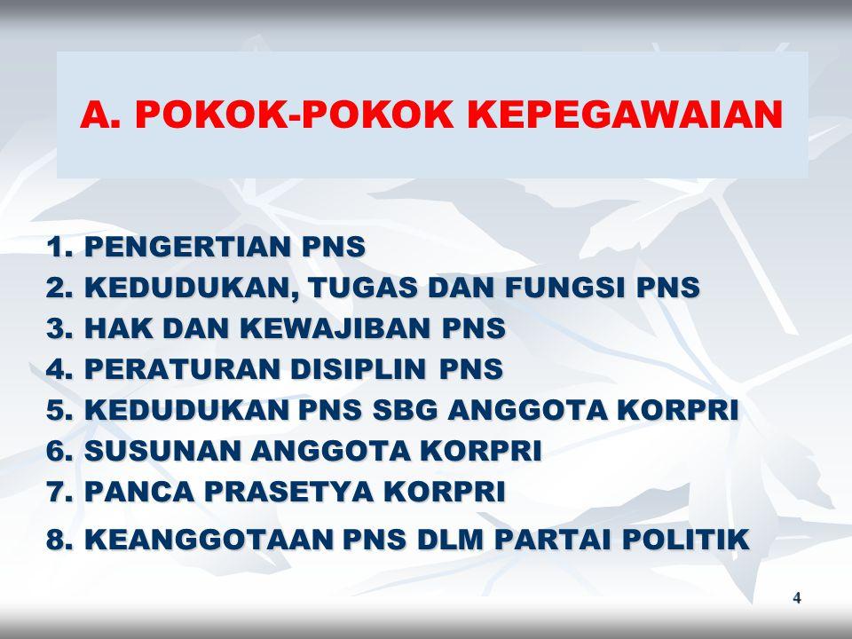 A. POKOK-POKOK KEPEGAWAIAN