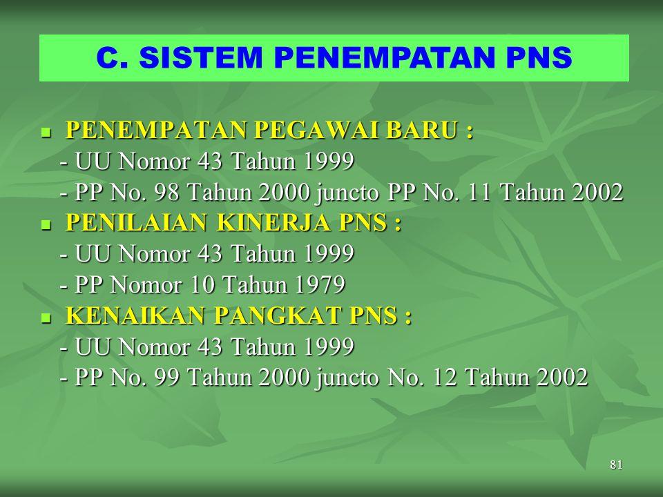 C. SISTEM PENEMPATAN PNS