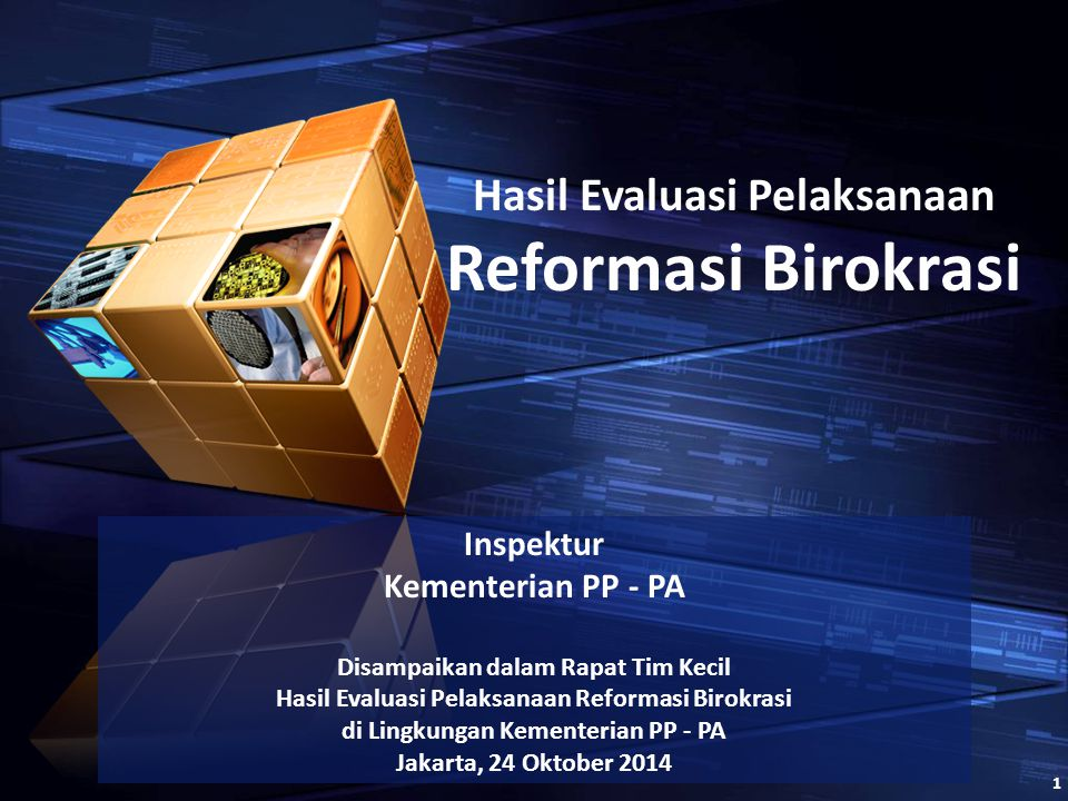 Reformasi Birokrasi Hasil Evaluasi Pelaksanaan Inspektur