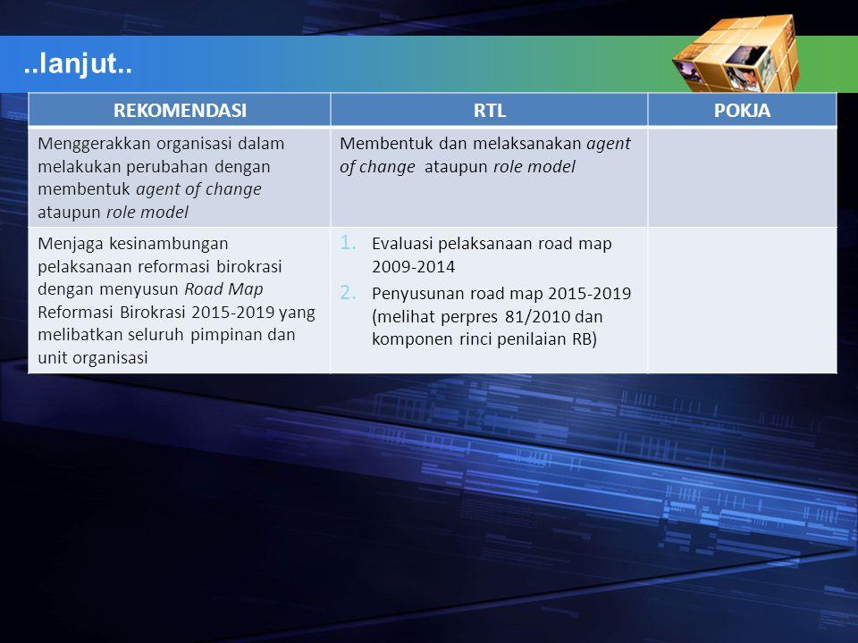 ..lanjut.. REKOMENDASI RTL POKJA
