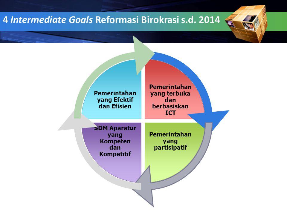 4 Intermediate Goals Reformasi Birokrasi s.d. 2014