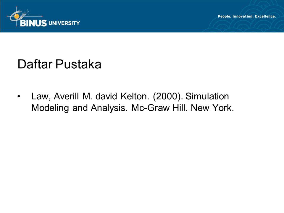 Daftar Pustaka Law, Averill M. david Kelton. (2000).