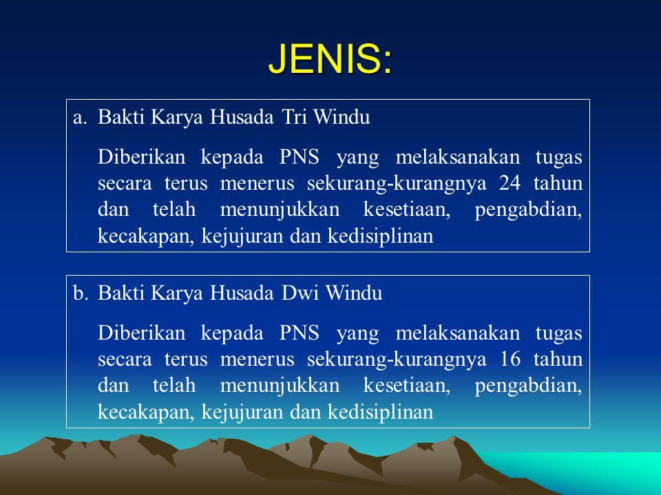 JENIS: Bakti Karya Husada Tri Windu