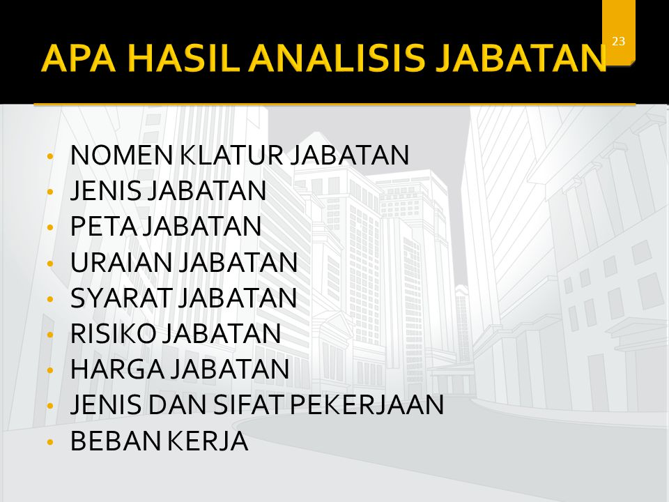 APA HASIL ANALISIS JABATAN