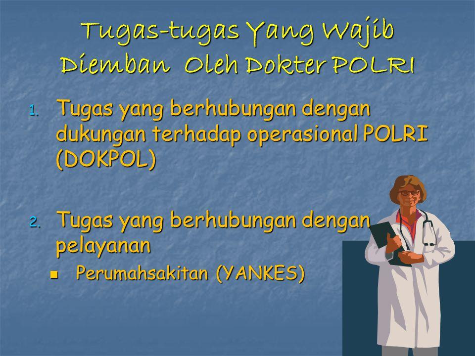 Tugas-tugas Yang Wajib Diemban Oleh Dokter POLRI