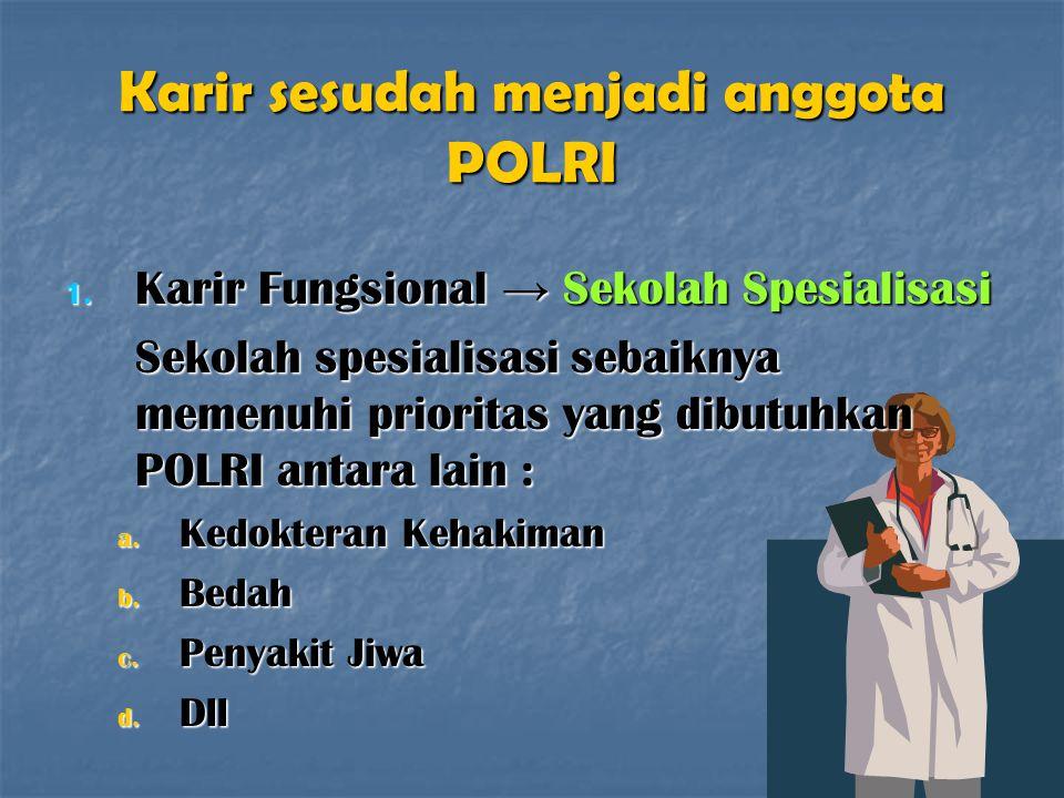 Karir sesudah menjadi anggota POLRI