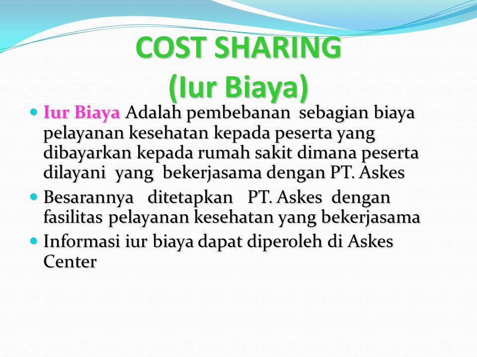 COST SHARING (Iur Biaya)