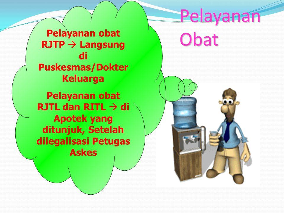 Pelayanan obat RJTP  Langsung di Puskesmas/Dokter Keluarga
