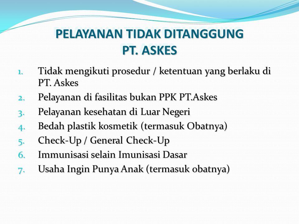 PELAYANAN TIDAK DITANGGUNG PT. ASKES