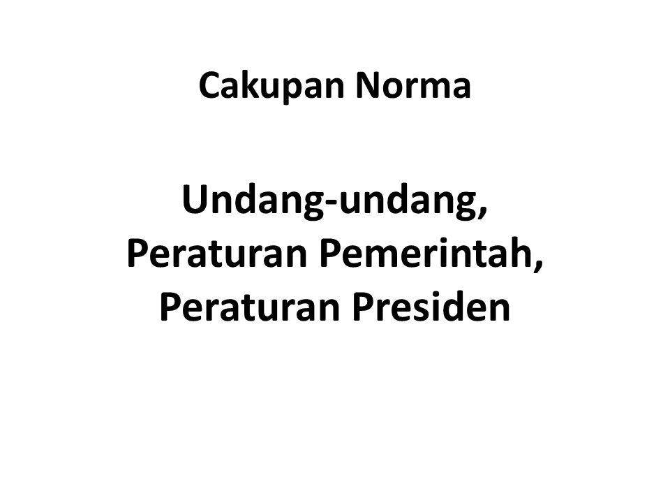 Undang-undang, Peraturan Pemerintah, Peraturan Presiden