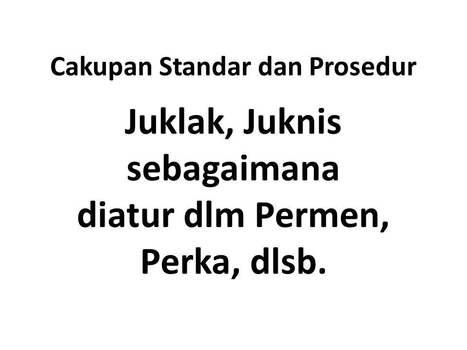 Cakupan Standar dan Prosedur