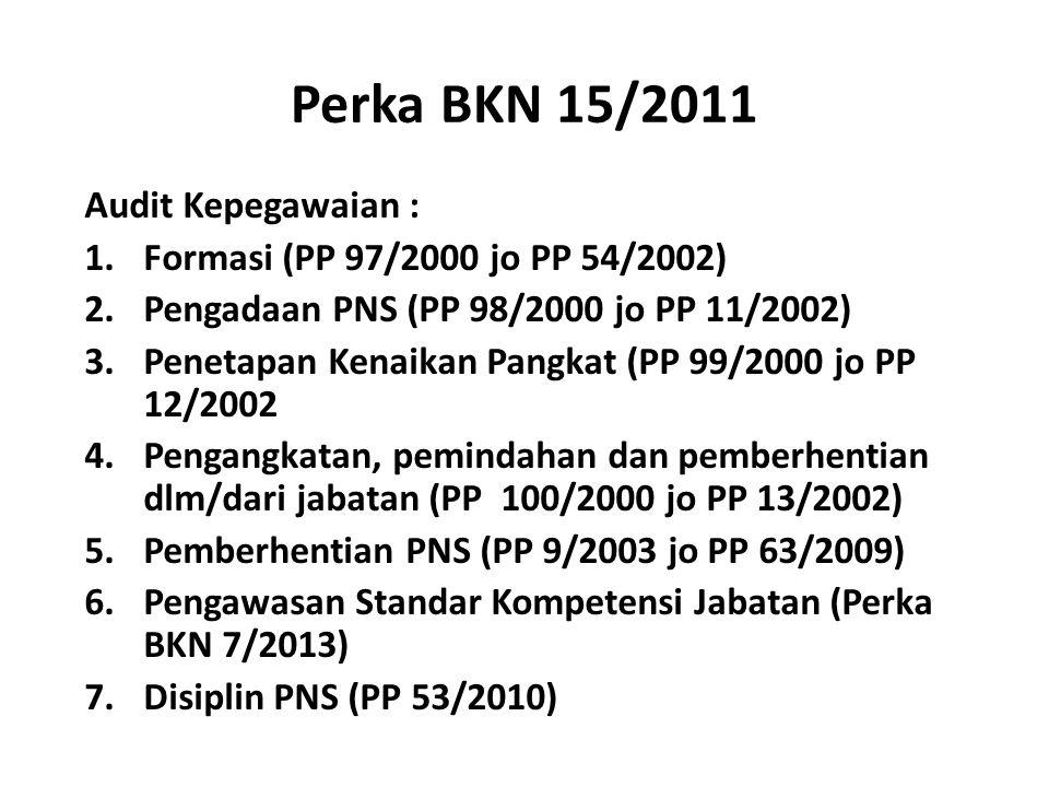 Perka BKN 15/2011 Audit Kepegawaian :