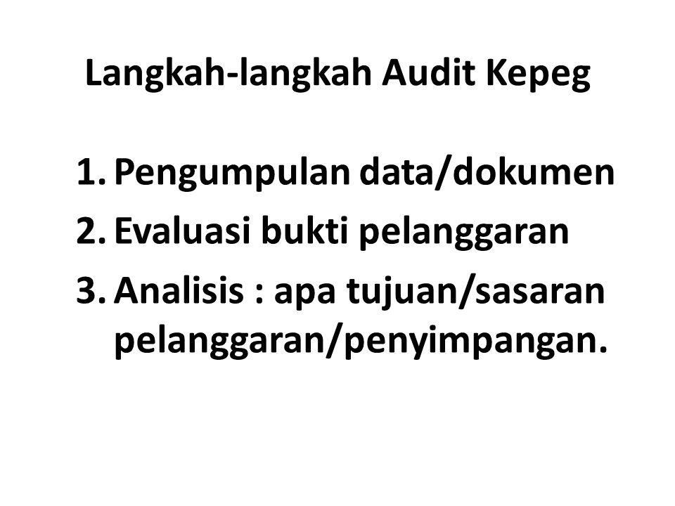 Langkah-langkah Audit Kepeg