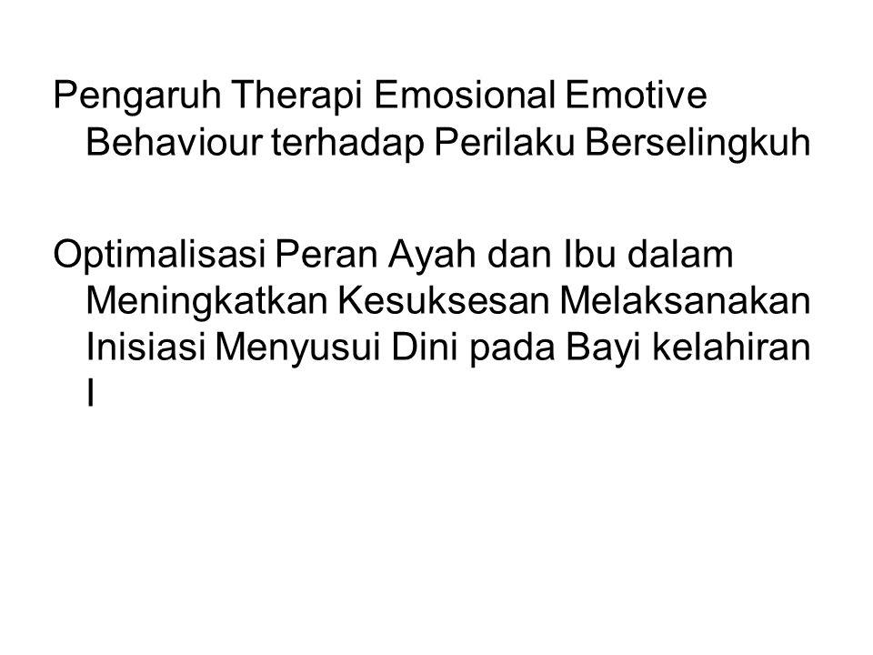 Pengaruh Therapi Emosional Emotive Behaviour terhadap Perilaku Berselingkuh