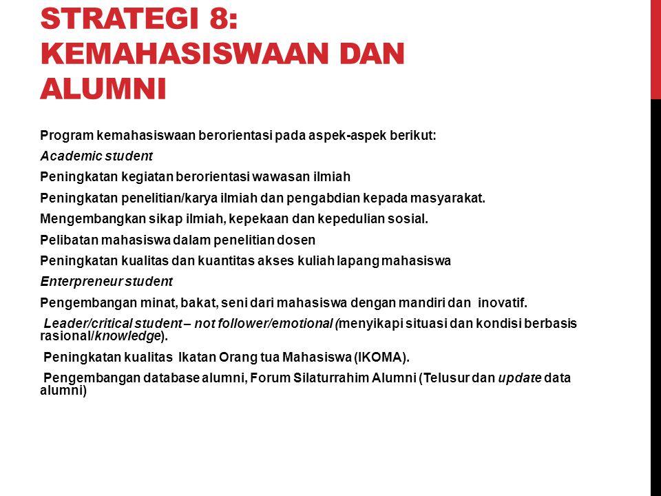 Strategi 8: Kemahasiswaan Dan Alumni