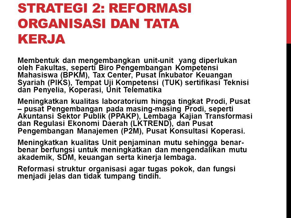 Strategi 2: Reformasi Organisasi dan Tata Kerja