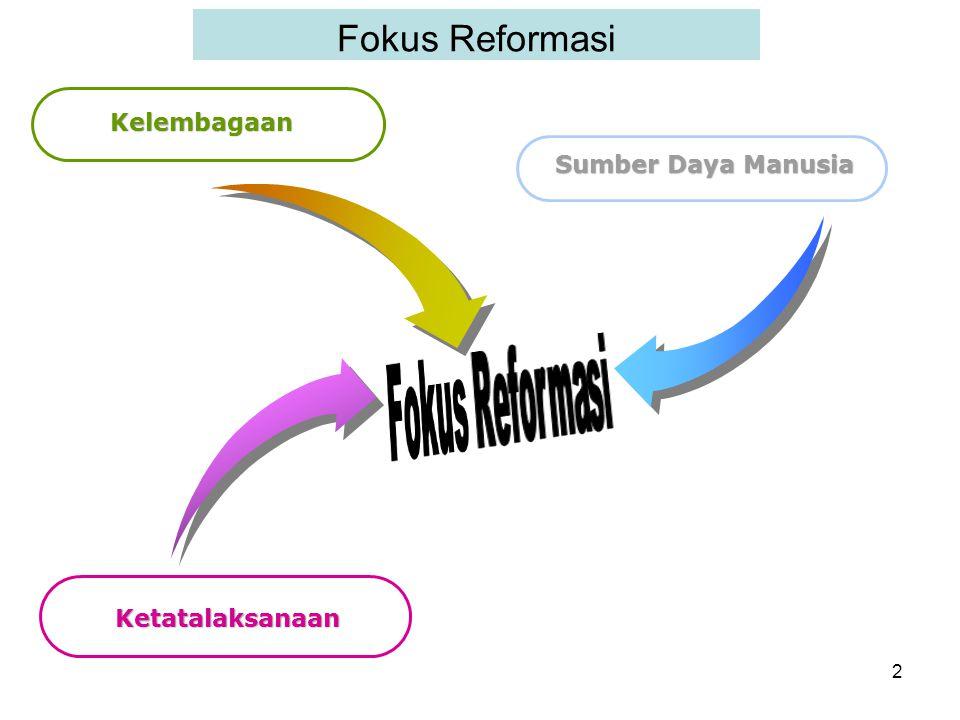 Fokus Reformasi Kelembagaan Sumber Daya Manusia Ketatalaksanaan