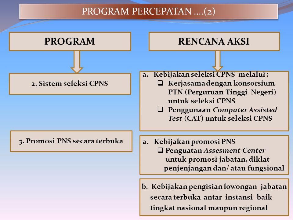 3. Promosi PNS secara terbuka