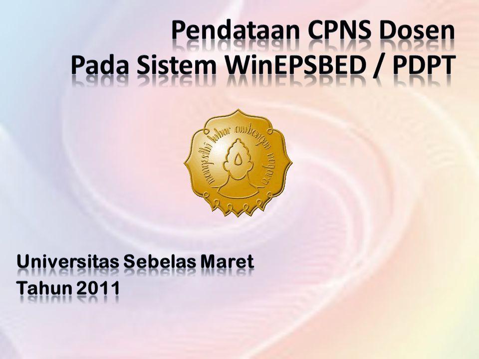 Pendataan CPNS Dosen Pada Sistem WinEPSBED / PDPT