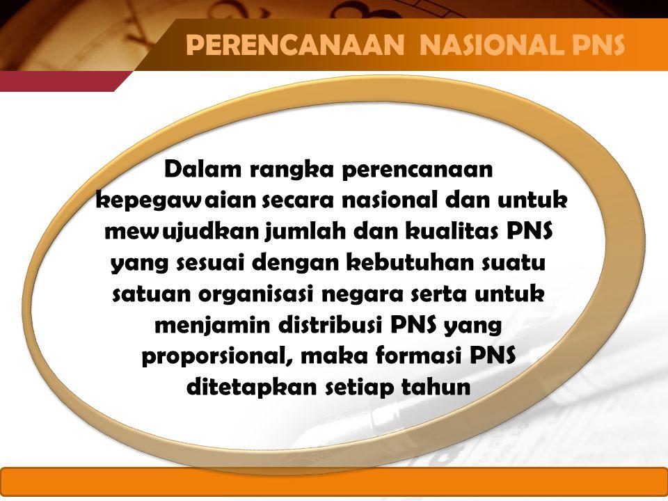 PERENCANAAN NASIONAL PNS