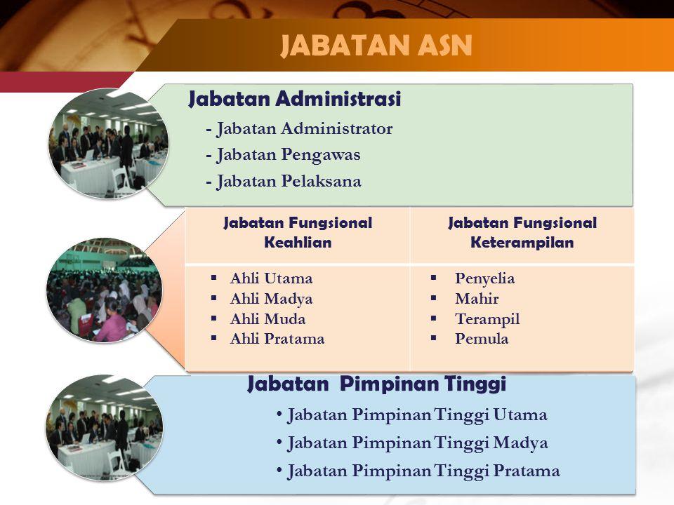 JABATAN ASN Jabatan Administrasi Jabatan Pimpinan Tinggi