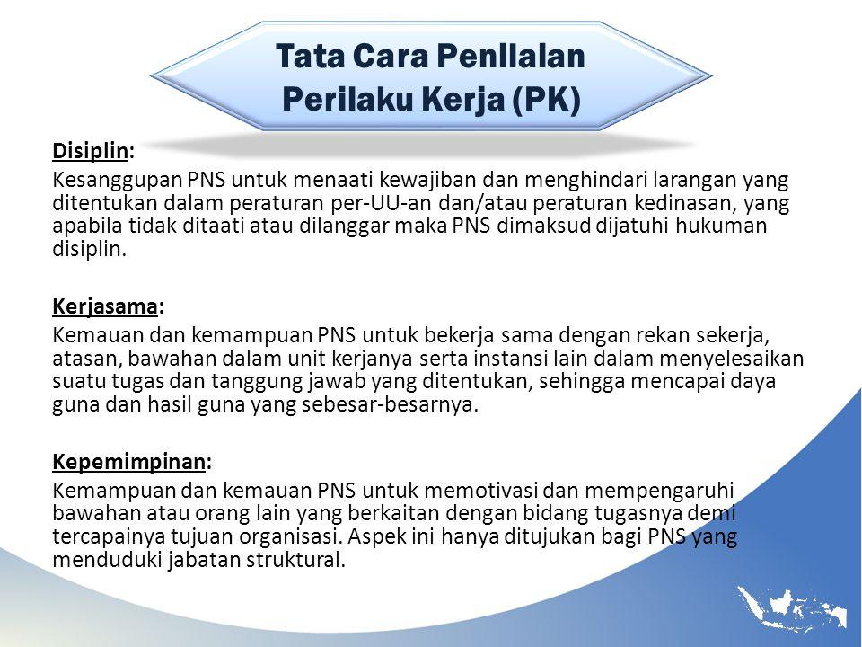 Tata Cara Penilaian Perilaku Kerja (PK)