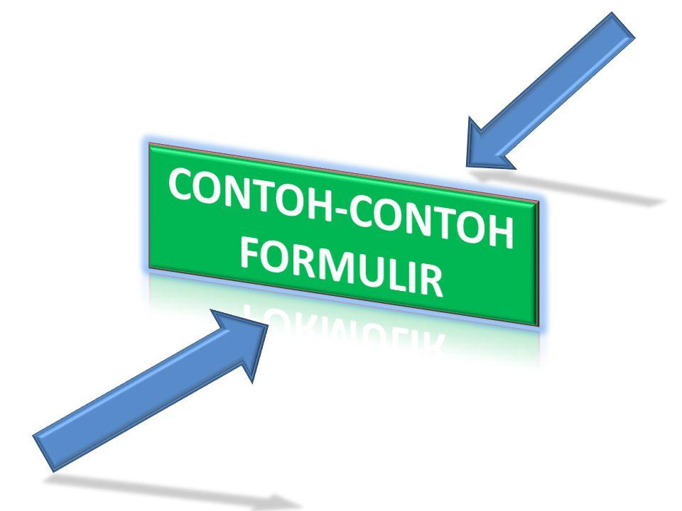 CONTOH-CONTOH FORMULIR