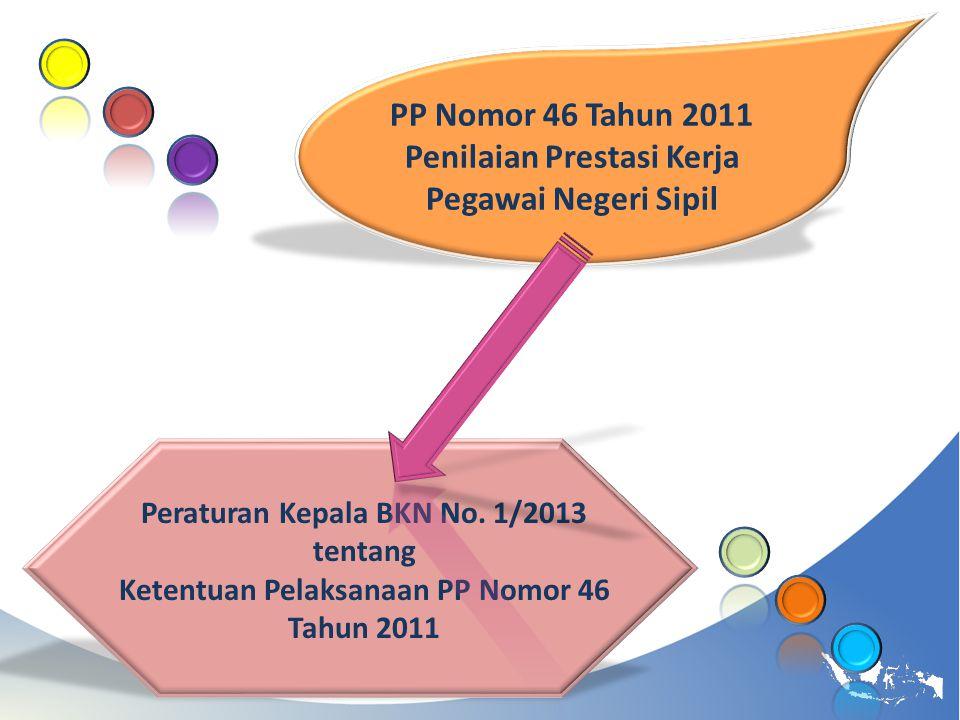 PP Nomor 46 Tahun 2011 Penilaian Prestasi Kerja Pegawai Negeri Sipil