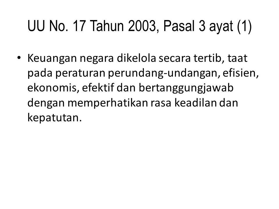 UU No. 17 Tahun 2003, Pasal 3 ayat (1)
