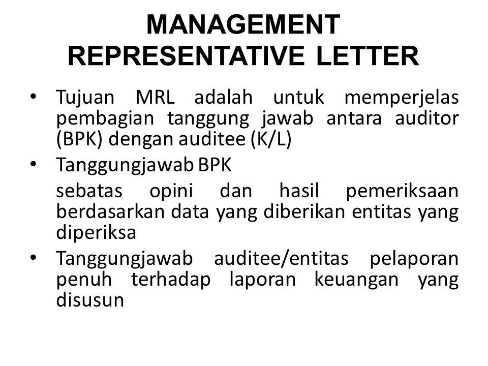 MANAGEMENT REPRESENTATIVE LETTER