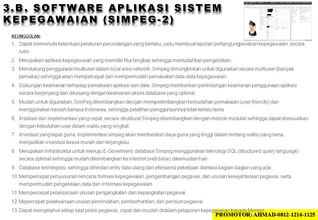 3.B. SOFTWARE APLIKASI sistem KEPEGAWAIAN (SIMPEG-2)