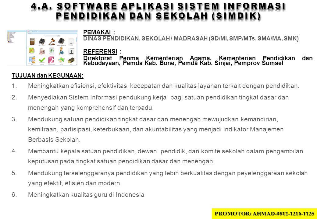 4.A. SOFTWARE APLIKASI sistem INFORMASI